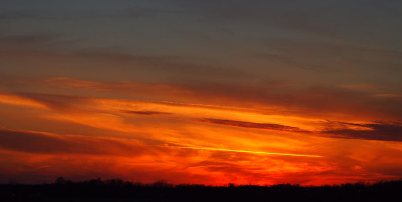 Final Sunset of 13. sunset, red, sky, orange, usa, sunlight, black, nature, yellow, clouds, unitedstates, horizon, gray, indiana, putnamcounty, ilobsterit. buy photo