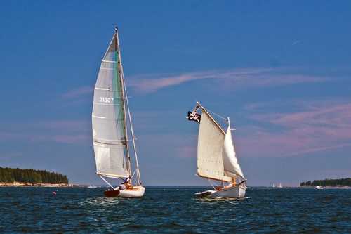 Sailing on the Maine coast. sailboat, sailing, maine, sail, mainecoast. buy photo