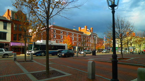 Market Square in Portsmouth, New Hampshire. newhampshire, portsmouth, marketsquare, downtownportsmouth. buy photo