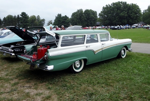 1957 Ford Country Sedan Wagon. ford, 1957, gilmorecarmuseum, countrysedan, musclecarsplus. buy photo