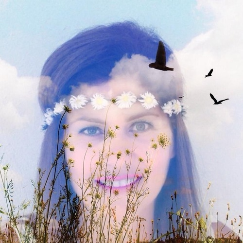 spring has come, I'm happy. portrait, me, nature, birds, clouds, spring, daisy, leyla, bahar. buy photo