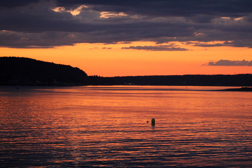 Sunset at Bar Harbor, Maine. sunset, harbor, maine, barharbor. buy photo