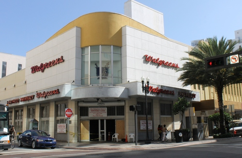 Fire At Walgreens. fire, downtown, miami, walgreens. buy photo