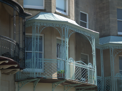 16 Pale Blue. bristol, balcony, ironwork, clifton, paleblue, 365d. buy photo