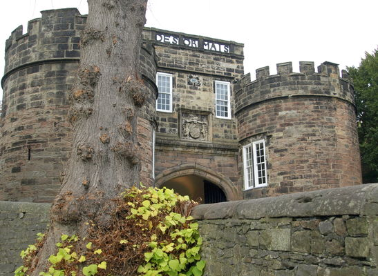 Skipton Castle. county, uk, england, building, stone, outside, place, photos, yorkshire, north, visit, tourist, historic, dales, skipton, relic, olden, yorks, skiptoncastle, ©2014tonyworrall, photosofskipton. buy photo