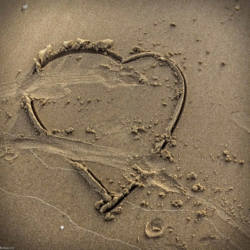 Everone wants to be loved. texture, love, beach, photography, sand, perfect, heart, grain, shape. buy photo