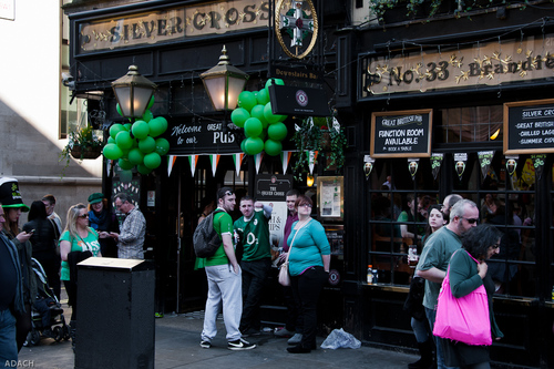St. Patrick's Day -  London 2014-5. music, irish, green, london, trafalgarsquare, parade, guinness, celebration, shamrock, stpatricksday, leprechauns. buy photo