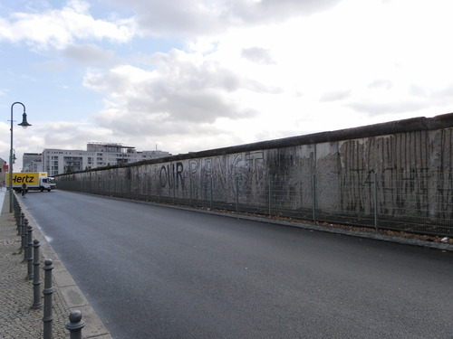 The Berlin wall is moving .... berlin, germany, berlinwall, overcast. buy photo