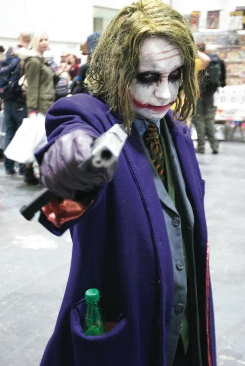 Joker cosplayer, London Super Comic Con, Excel, Docklands, 14th March 2014. buy photo