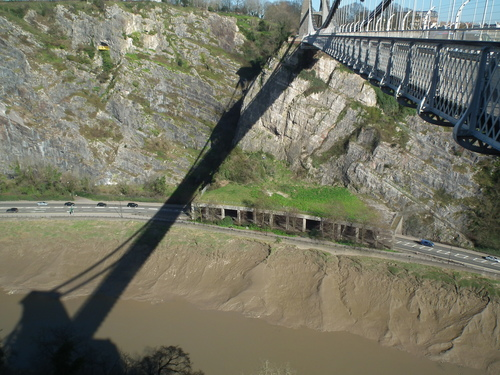 It's that bridge. bridge, shadow, water, river, mud, cliffs, gorge, avon. buy photo