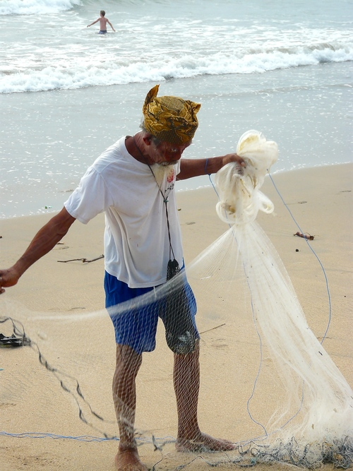 Fishing .. bali, beach, lumix, fisherman, panasonic, kuta. buy photo