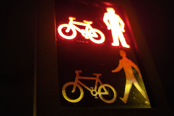 "78-365 ""It's not easy being green"". lights, crossing, f14, pedestrian, cycle, fujifilm, 365, fujinon, 2014, 23mm, xt1, ilobsterit. buy photo"