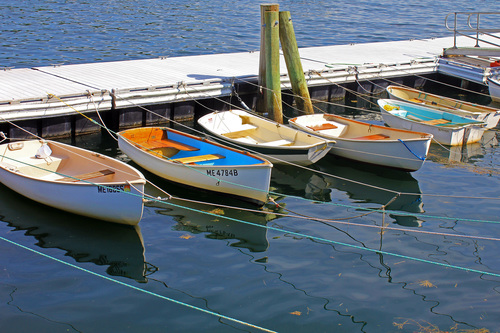 Dinghies in Rockport, Maine. harbor, boat, maine, rowboat, rockport, dinghy, rowboats, dinghies, smallboats. buy photo