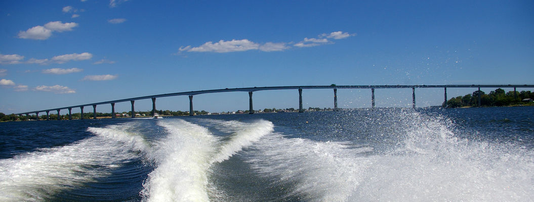 PICK A WAVE TO JUMP. bridge, boat, view, maryland, annapolis. buy photo