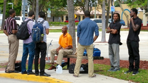 Holding Court. friends, hairy, male, men, guy, parkinglot, florida, masculine, manly, rear, group, handsome, guys, westpalmbeach, dude, busstop, buns, backpacks, males, backs, dudes, stud, studs, backpackers, virile, ilobsterit. buy photo