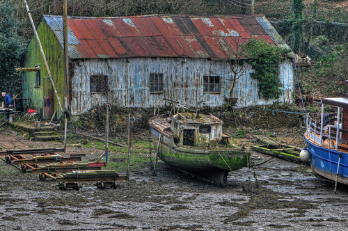 Wreck and Ruin. boat, shed, northwales. buy photo
