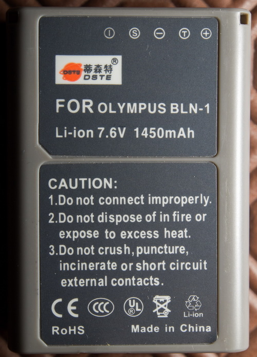 DSTE Compatible Olympus BLN-1. buy photo