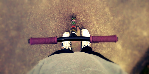 Scootering. buy photo