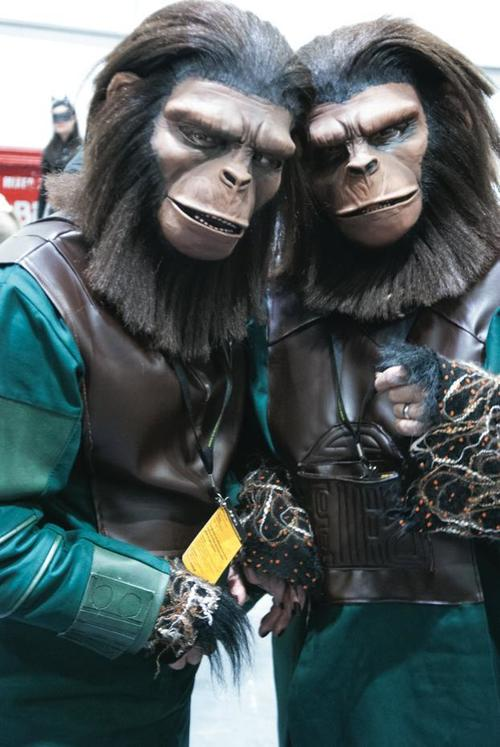 Planet of The Apes cosplayers, London Super Comic Con, Excel, Docklands, 15th March 2014. people, cosplay, planetoftheapes. buy photo