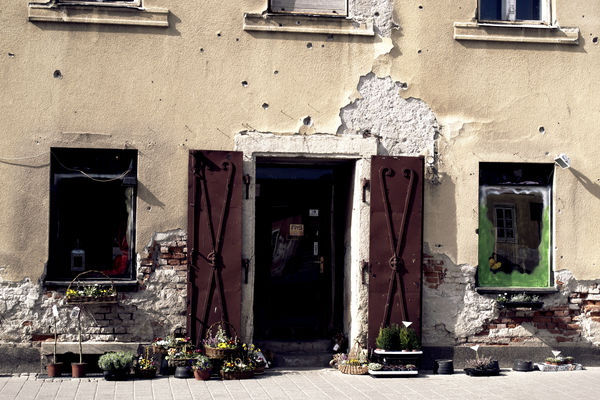 a kitchen with a refrigerator and a stove. old, croatia, florist, varaždin, ilobsterit. buy photo