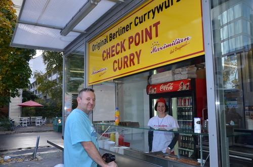 Ironic? Checkpoint Charlie now, Berlin. street, food, berlin, germany, streetphotography, curry. buy photo