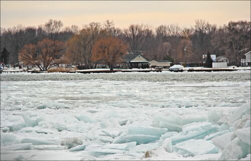 Taken Out The Window. winter, snow, canon, river, stclair, dreary, dull, 60d, takenoutthewindow. buy photo
