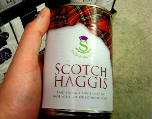 Scottish foodstuffs - Tin of Haggis. food, shop, tin, scotland, yummy, country, north, cook, things, eat, haggis, stuff, buy, ate, region, grub, regional, scots, unhealthy, scottishfood, thingstoeat, foodofscotland, ©2014tonyworrall. buy photo