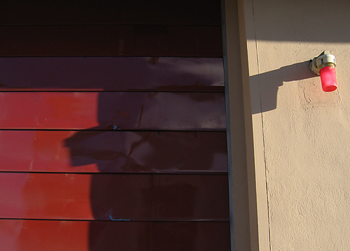 fire shadows. sanfrancisco, shadow, red, urban, missiondistrict, sffd, firedepartment, fotogail. buy photo