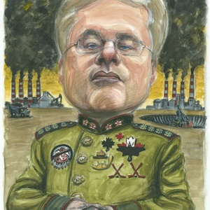 Stephen harper illustration for national observer by juhasz