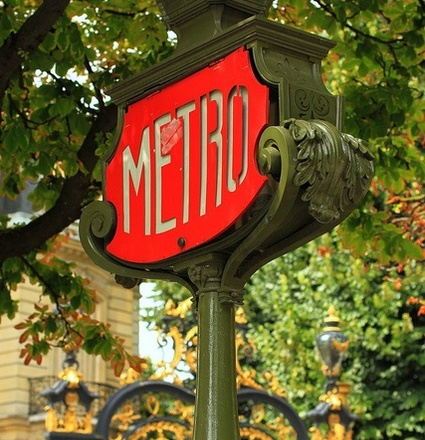 A metro station in Paris