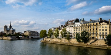ile Saint Louis and Notre Dame Chatedral