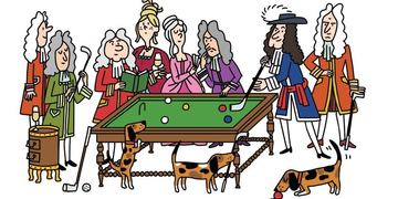 French royal life in a cartoon version
