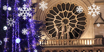 Notre Dame Cathedral during Christmas