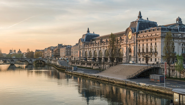 View of the Orsay Museum from the Seine