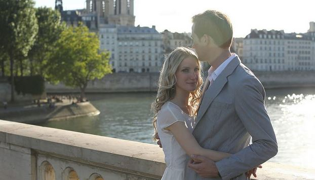 Romantic photo shooting in Paris