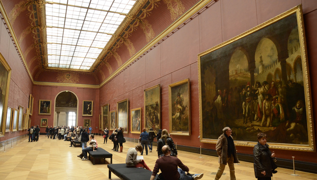 Large paintings gallery at the Louvre museum