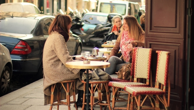 Photo of coffee break on our le marais fashion tour