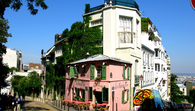 A charming street on our Montmartre Walking Tour