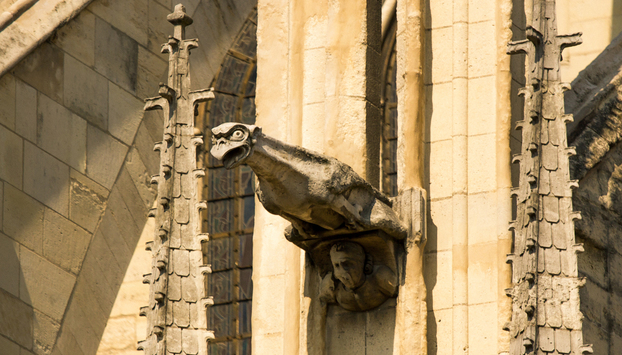 Details of Notre Dame Cathedral in Paris