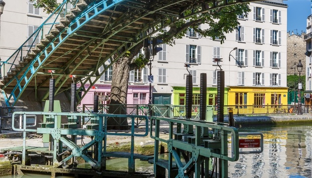 View on canal saint martin in paris