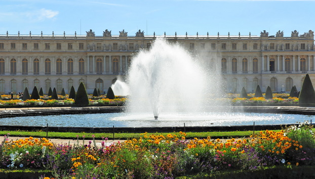 Royal fountain inside the Versailles Palace