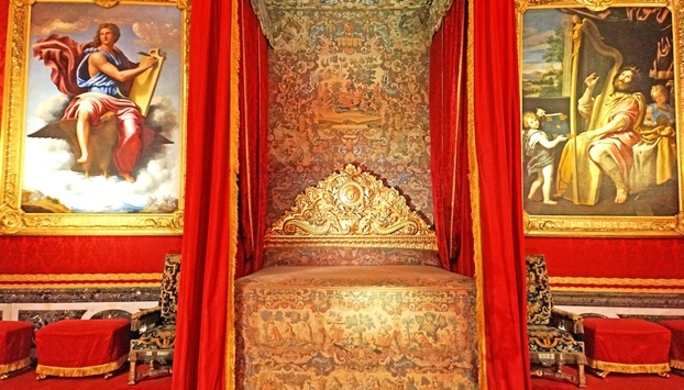 Royal bedroom in the Versailles Palace