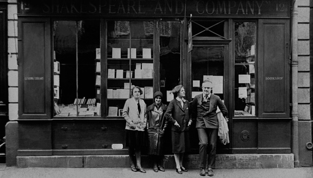 Old Shakespeare bookshop on our Paris Literature Tour