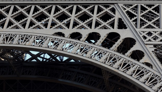 Detail of the Eiffel Tower in Paris