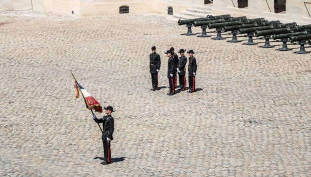 A military ceremony at Invalides