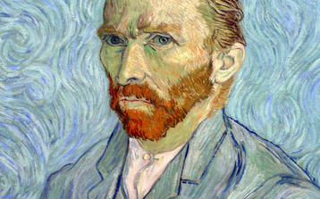 Photo of Vincent Van Gogh self-portrait on our Orsay Museum Tour