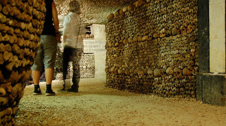 Photo of bones on our Catacombs Tour