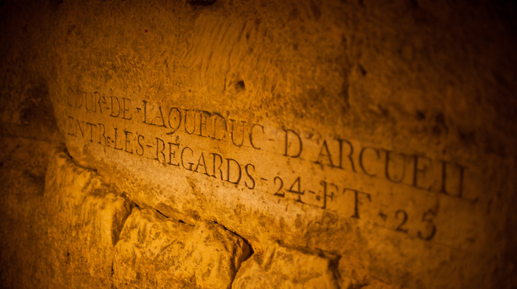 Photo of a plaque on our Catacombs Tour