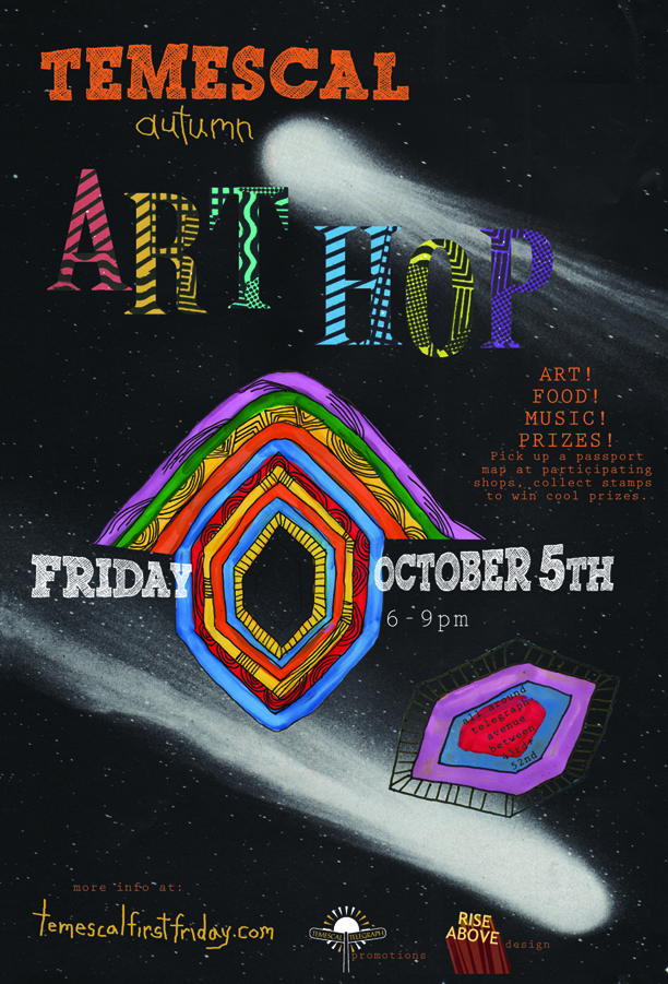 Temescal Autumn Art Hop - Friday October 5th, 6-9:30pm
