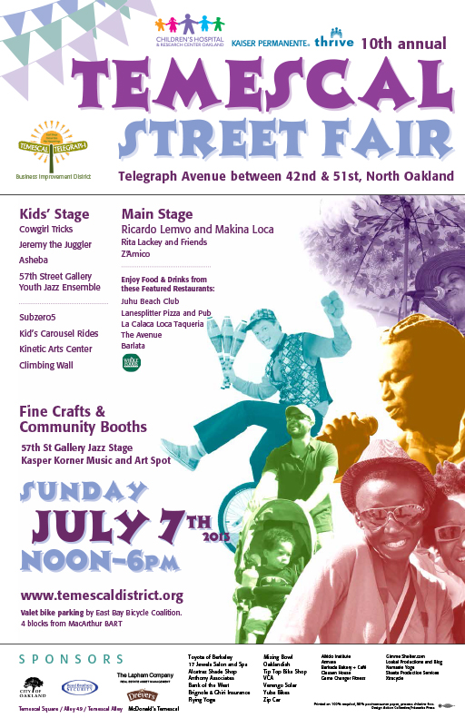 10th Annual Temescal Street Fair